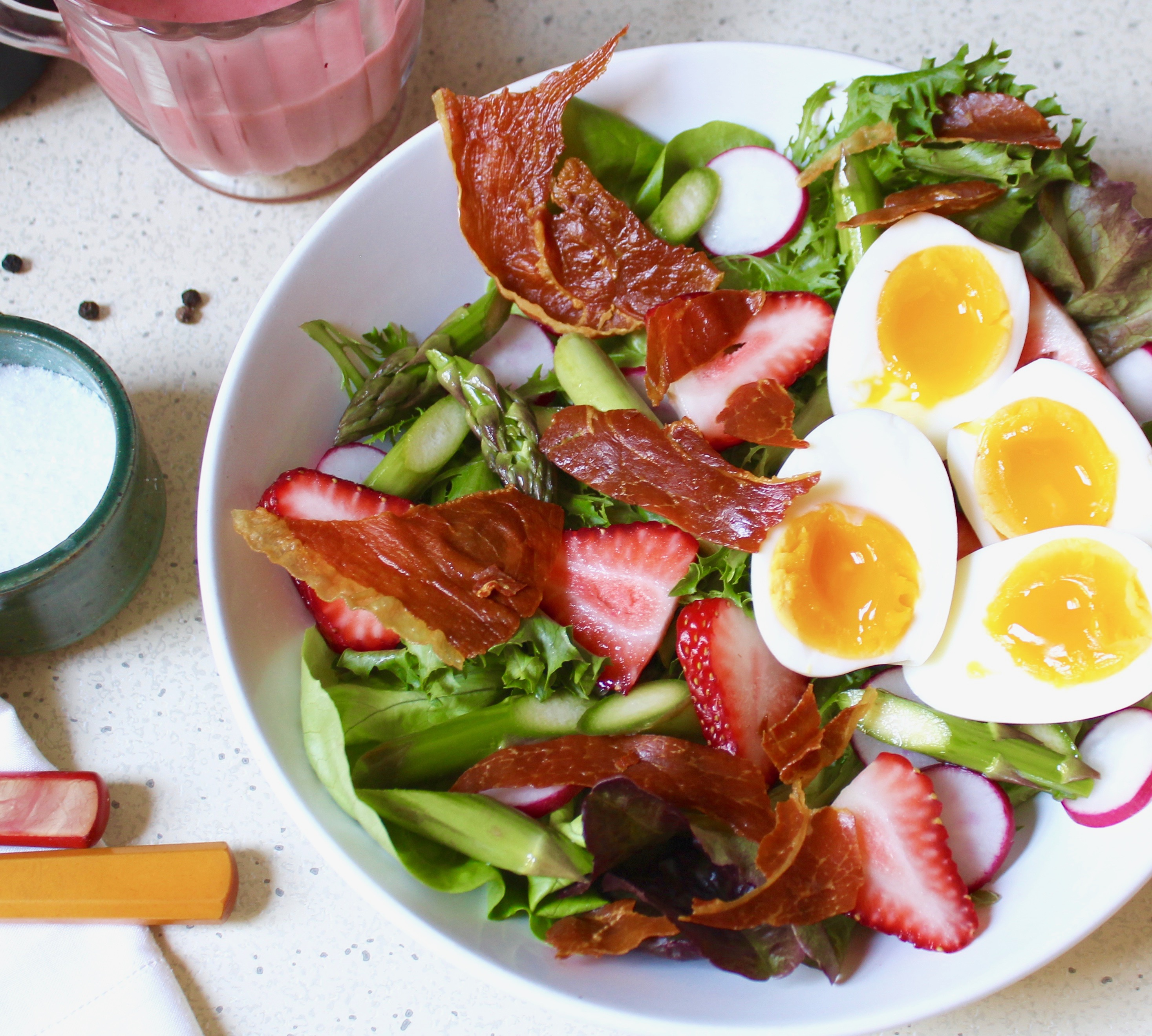Closeup, Spring Breakfast Salad