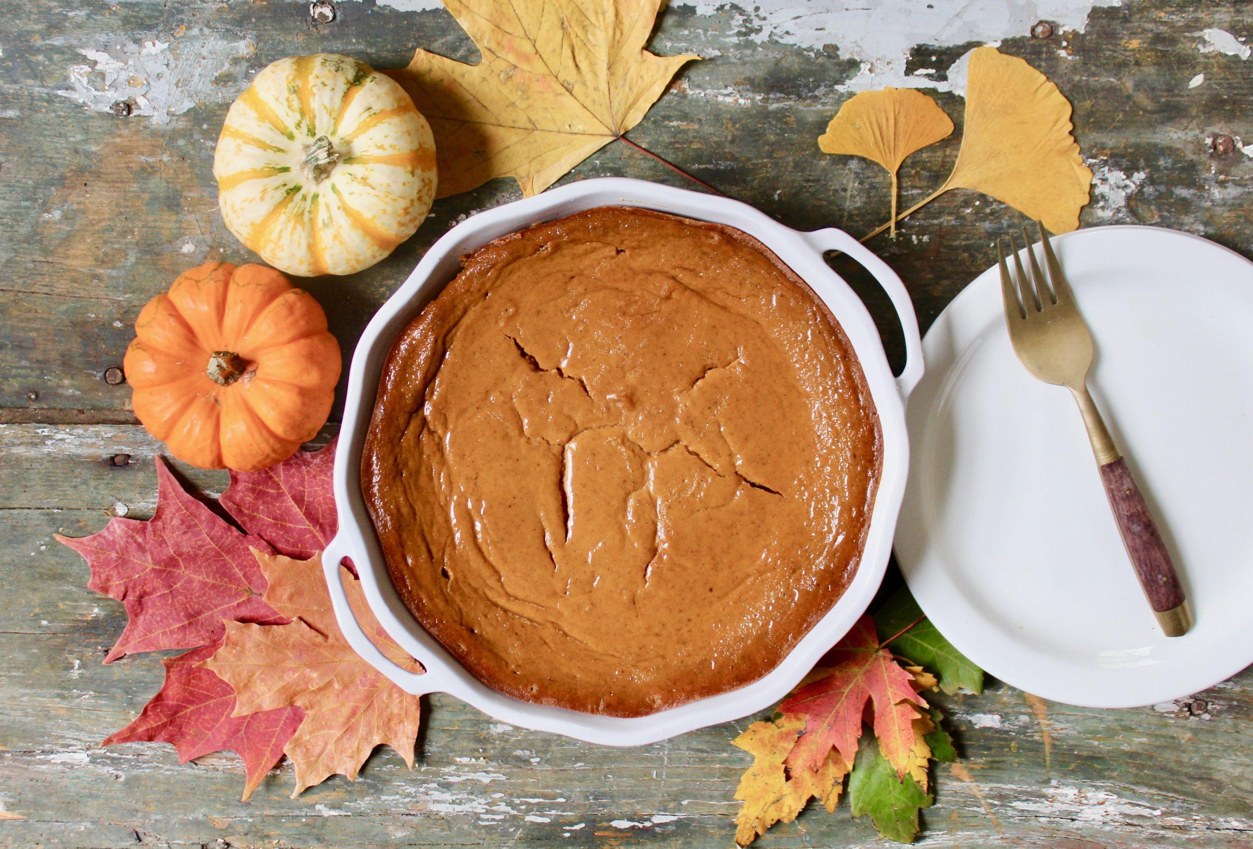 whole pumpkin cheesecake pie