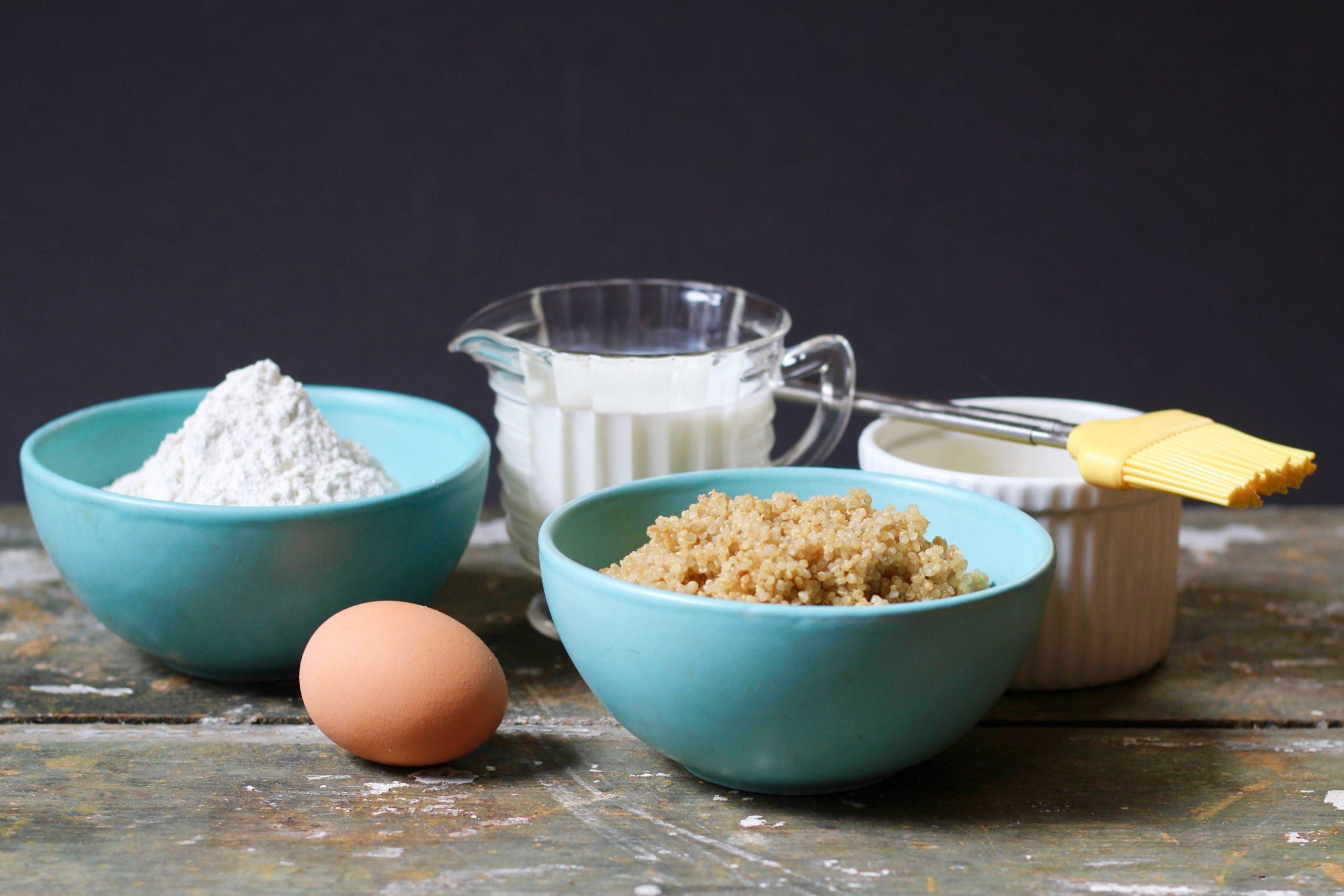 ingredients for quinoa pancakes
