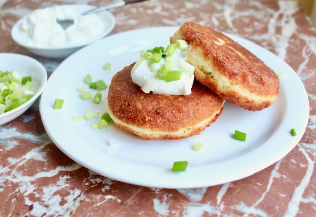 plate of manchego potato cakes