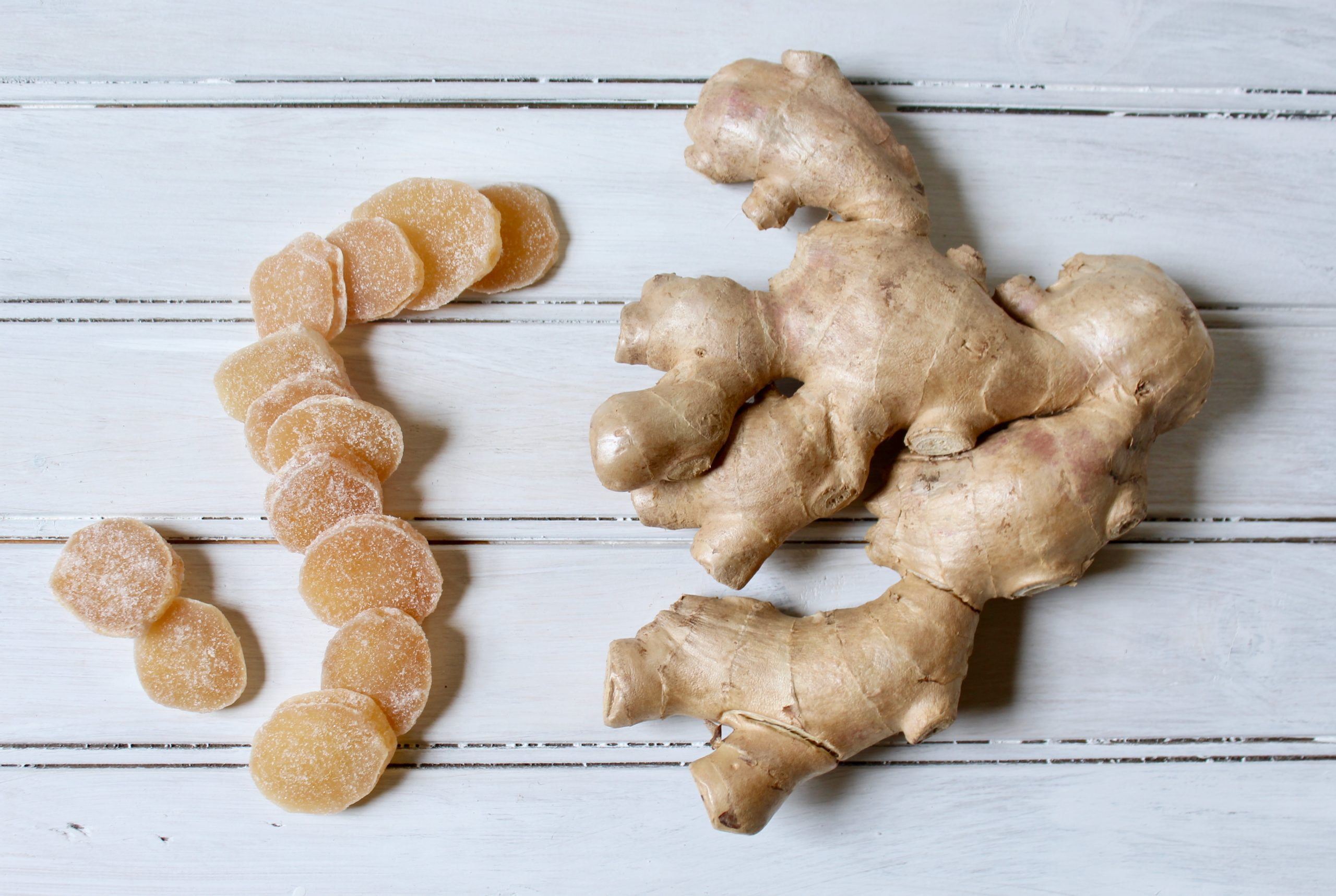 candied and fresh ginger