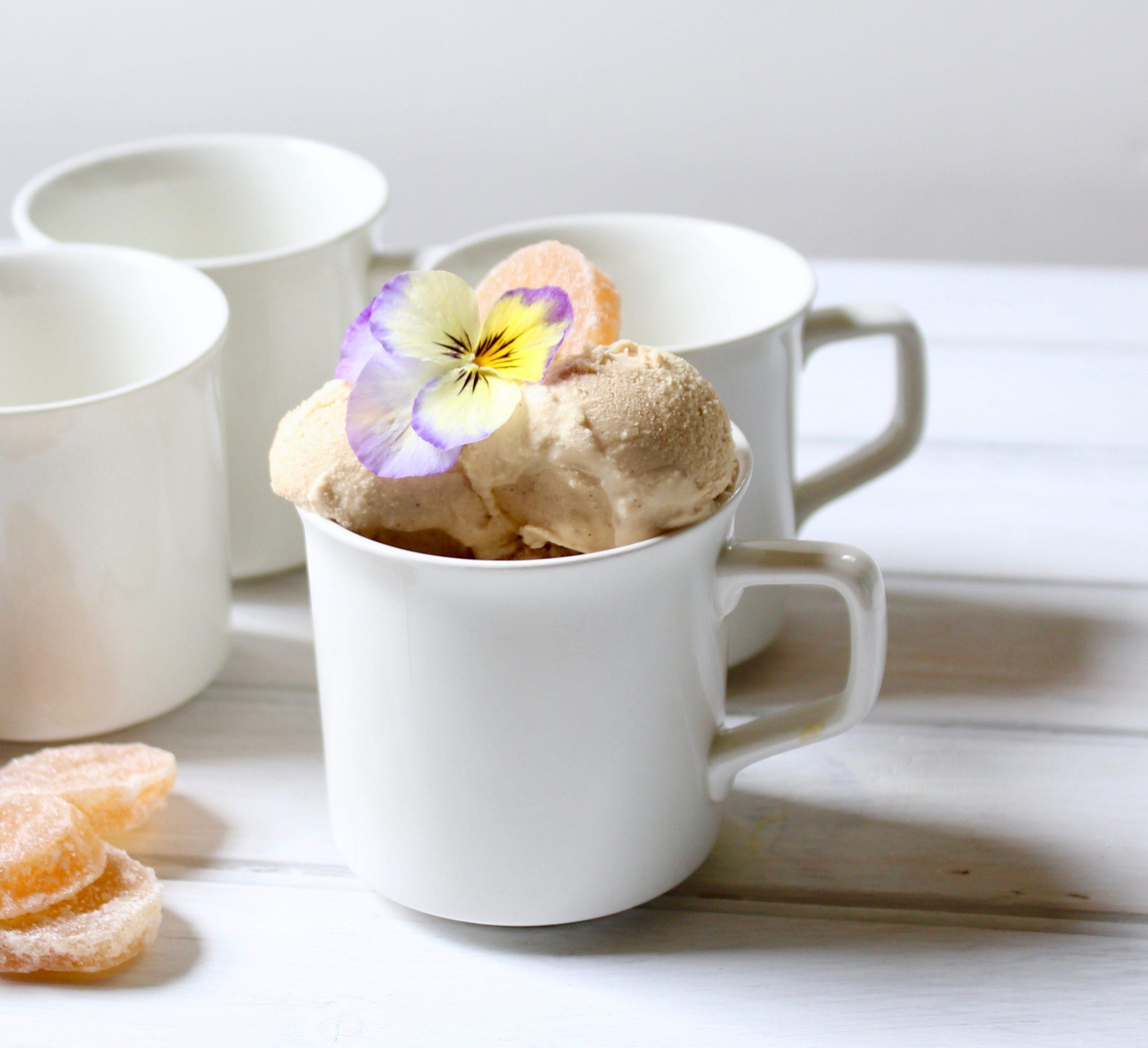 closeup of gingerbread ice cream