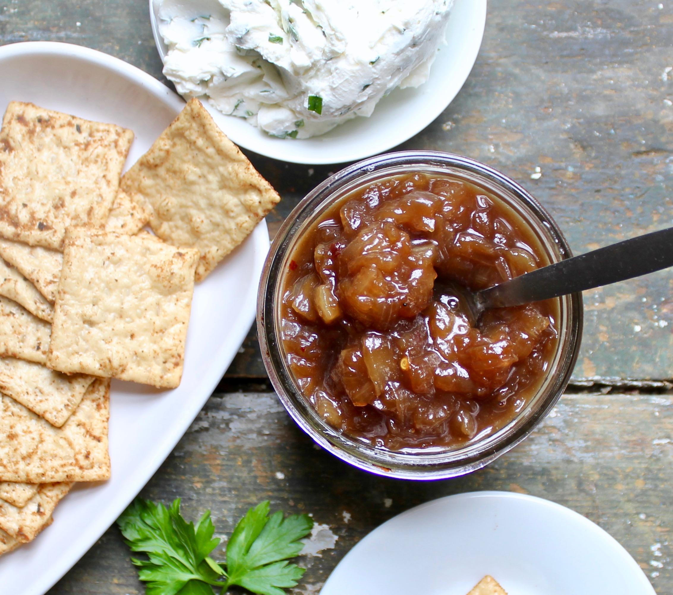 jar of vidalia onion chutney