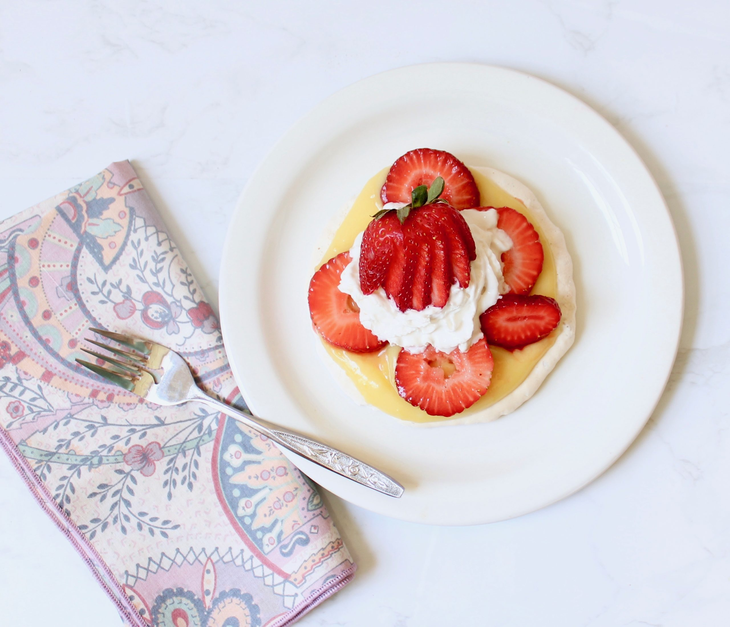 whole almond meringue berry tart