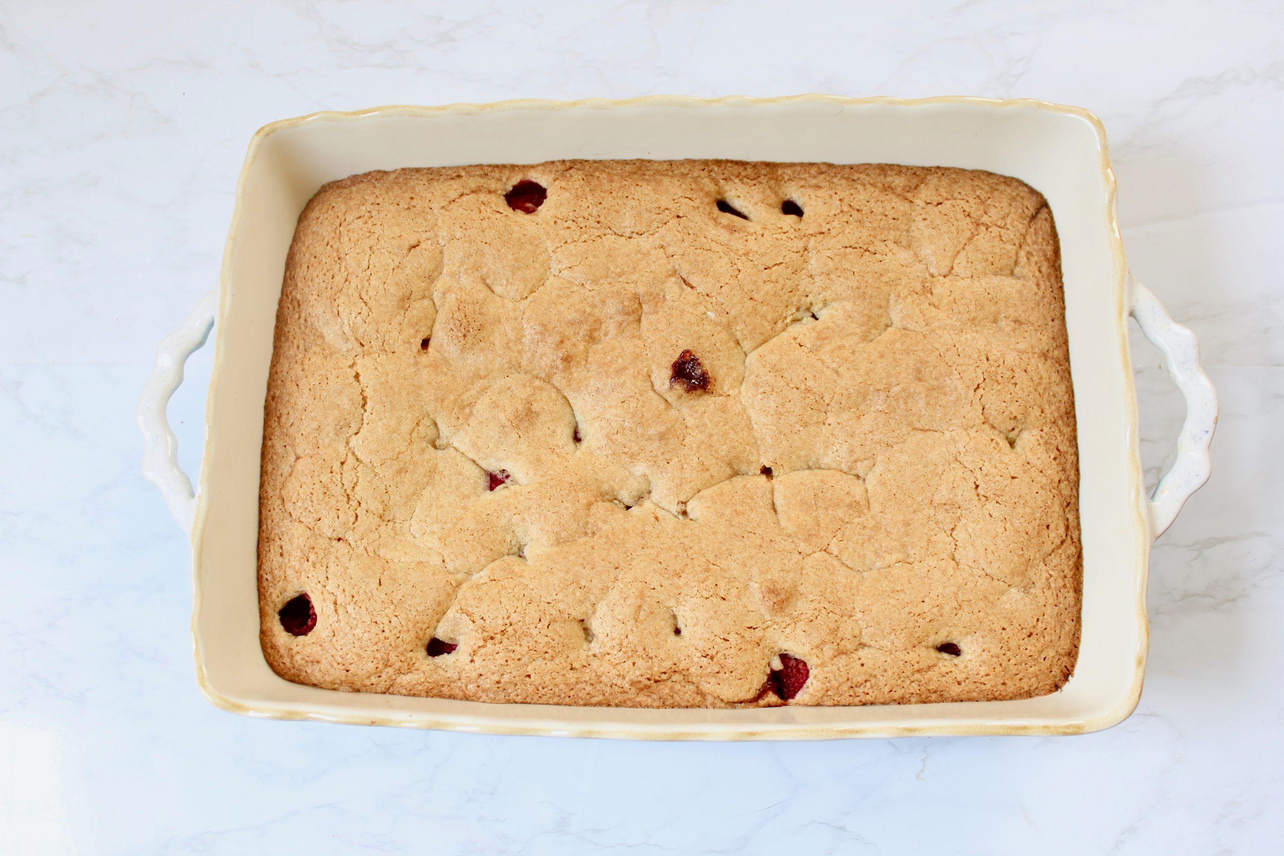 baked double raspberry cake