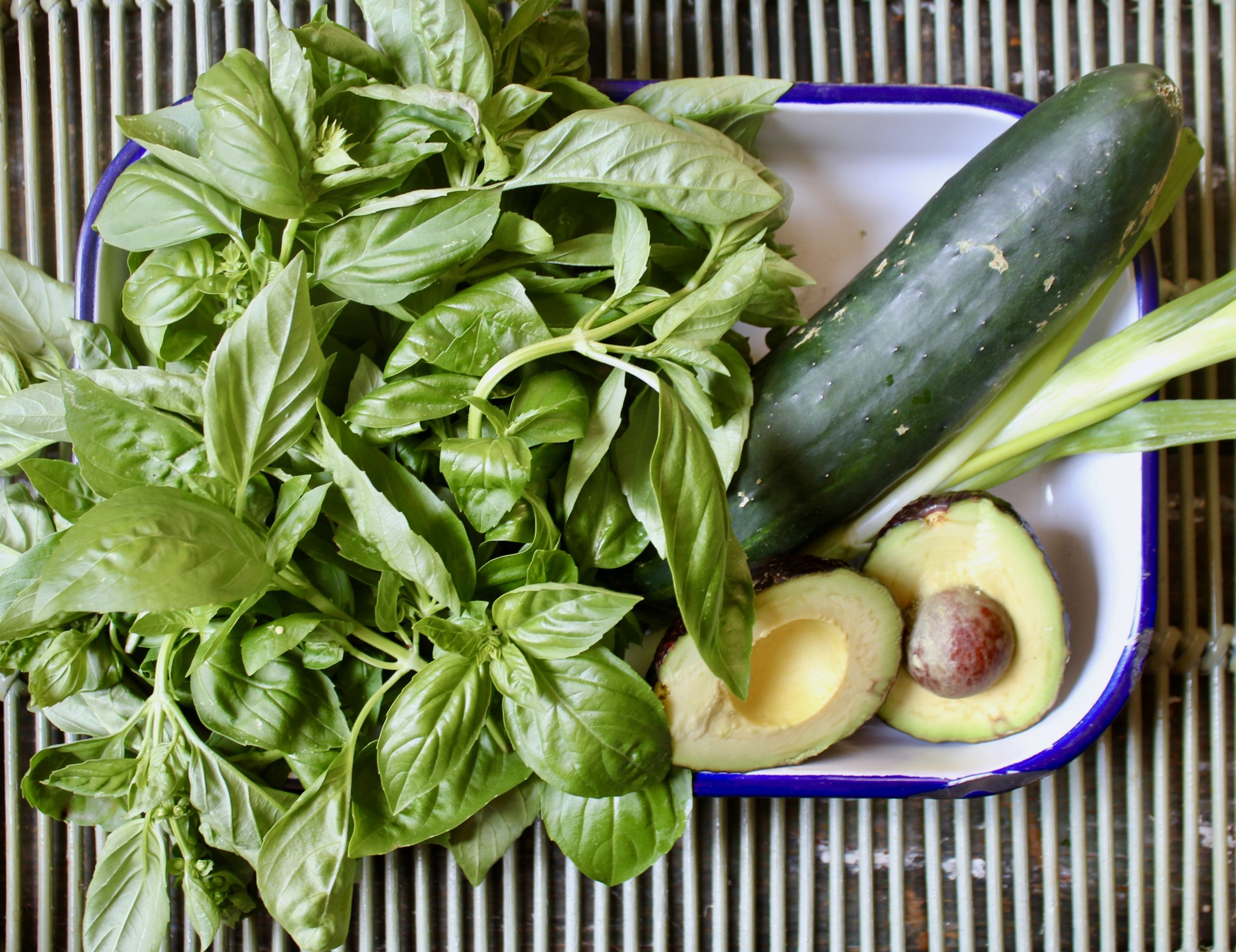ingredients for basil buttermilk soup