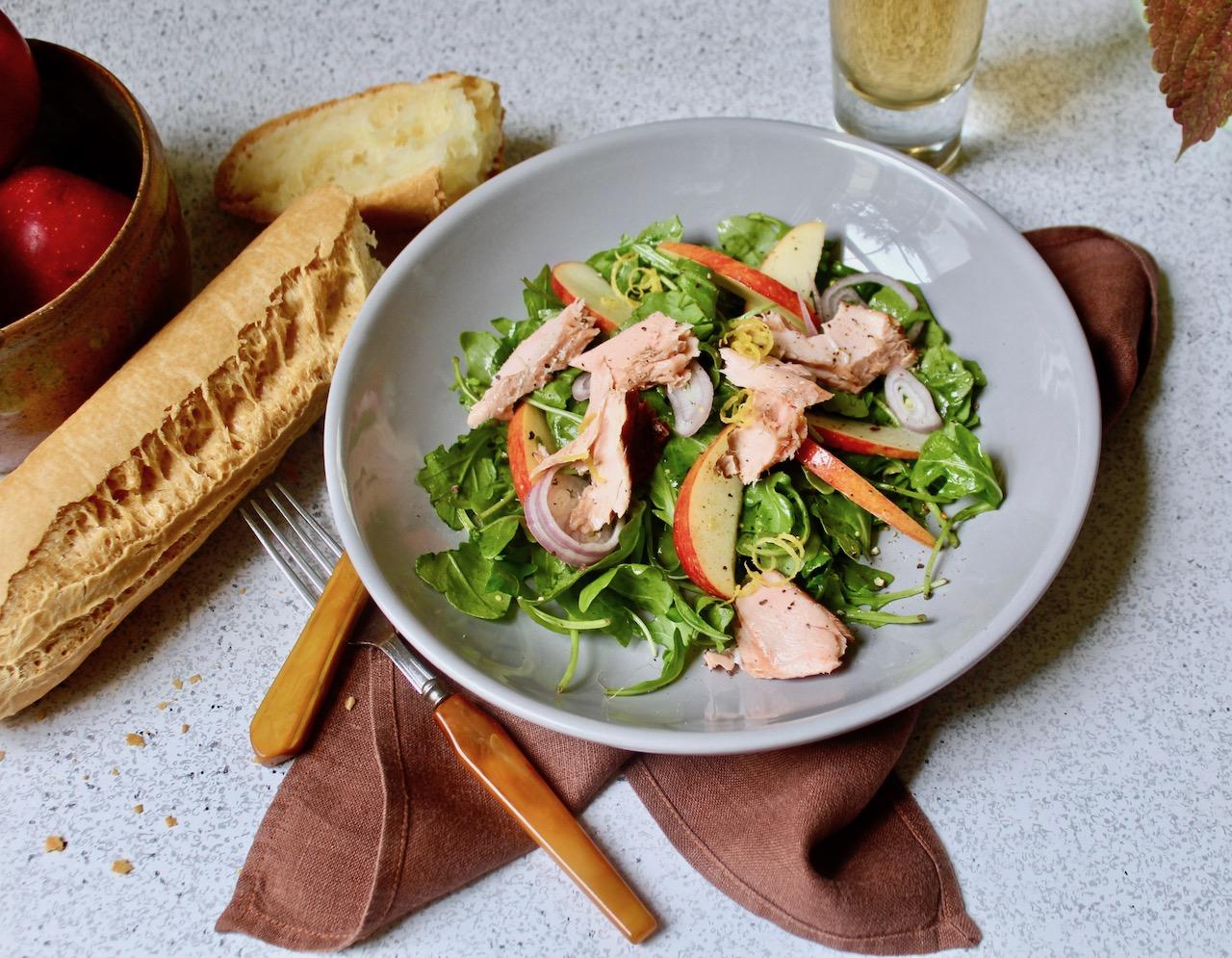 Smoked Salmon Apple Salad