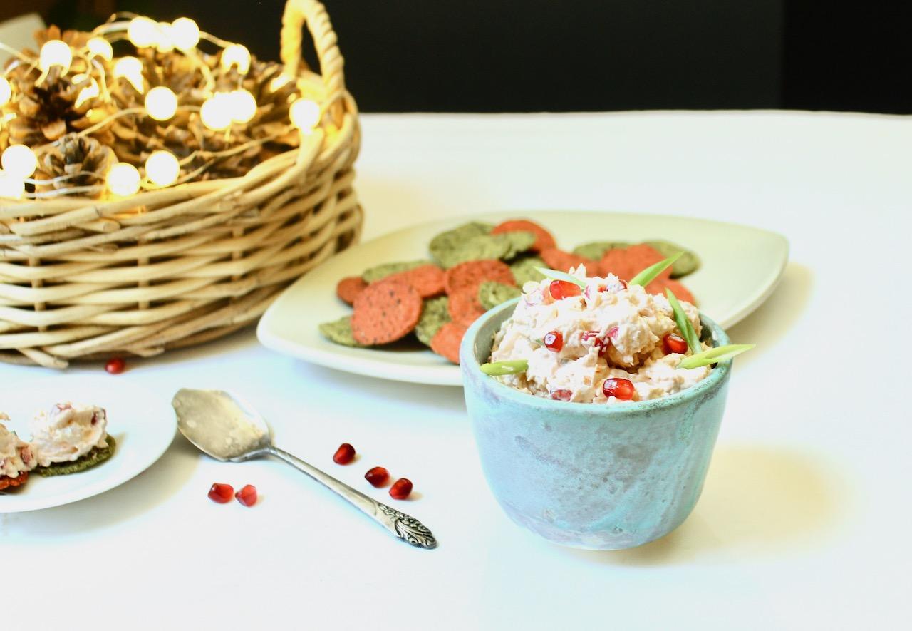 shrimp and pomegranate spread
