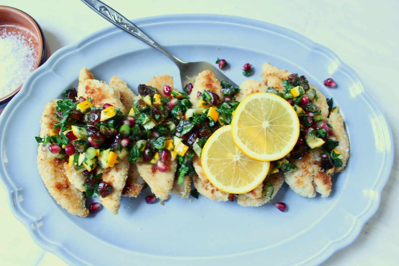 chicken with Meyer lemon salsa