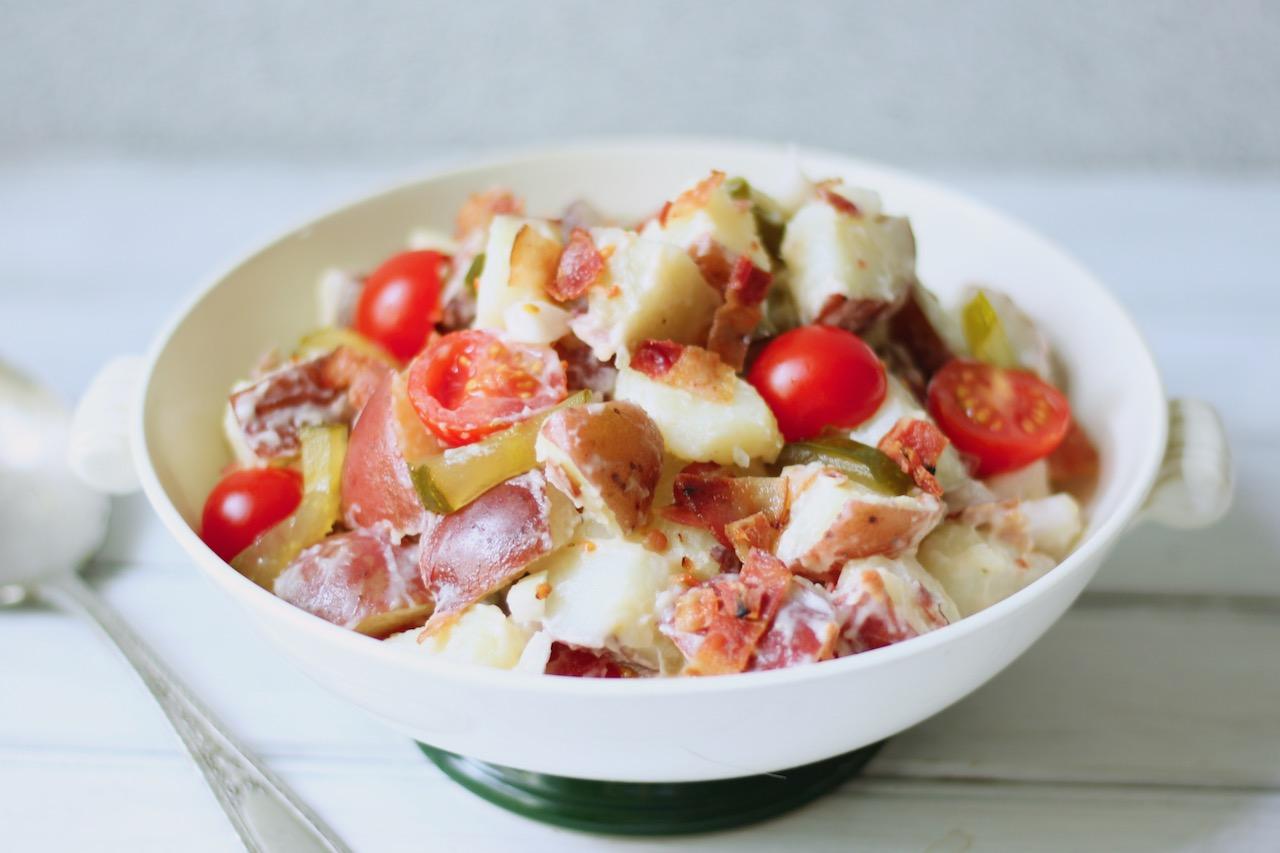 bacon tomato potato salad