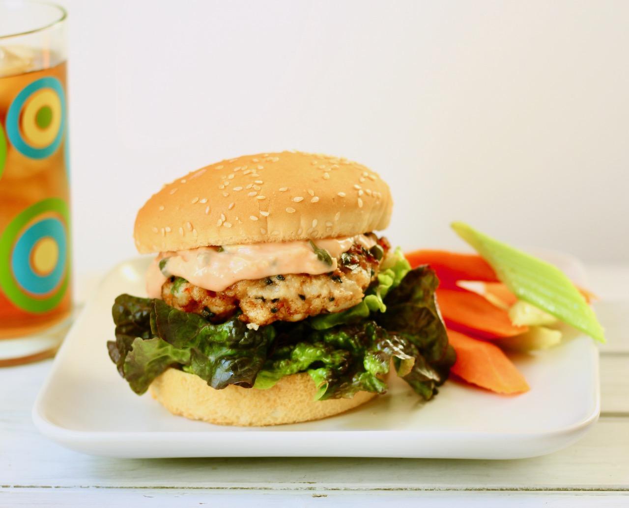sesame shrimp burgers