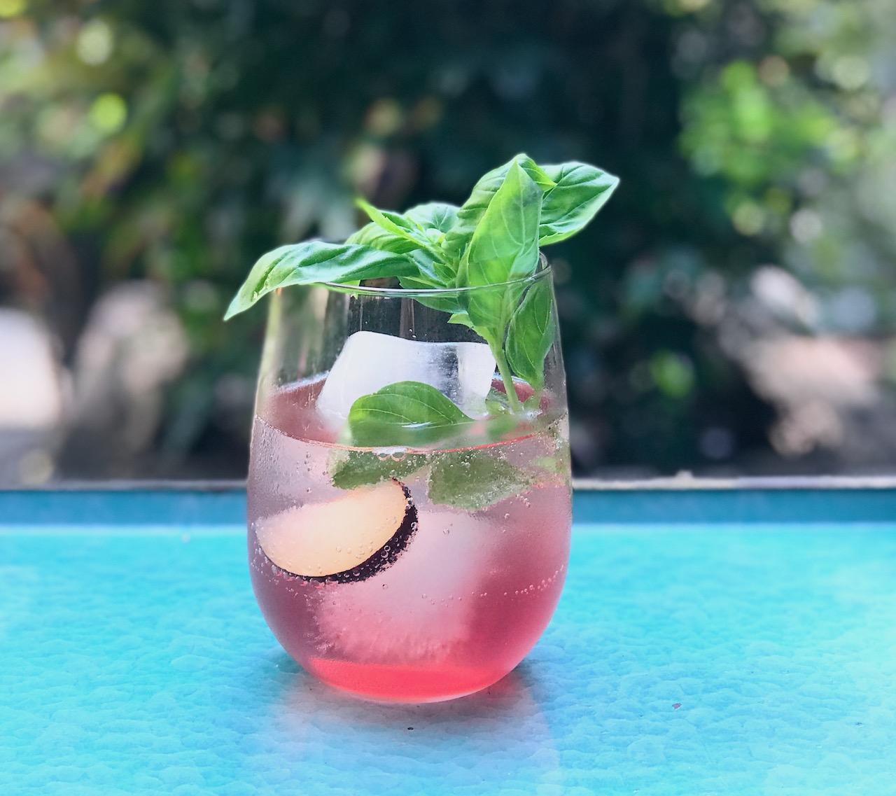 basil plum cocktial